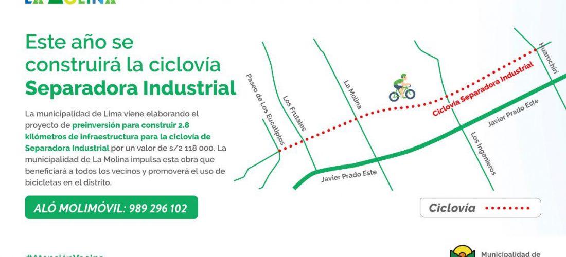 Ciclovía separado industrial